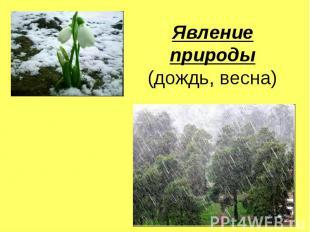Явление природы(дождь, весна)