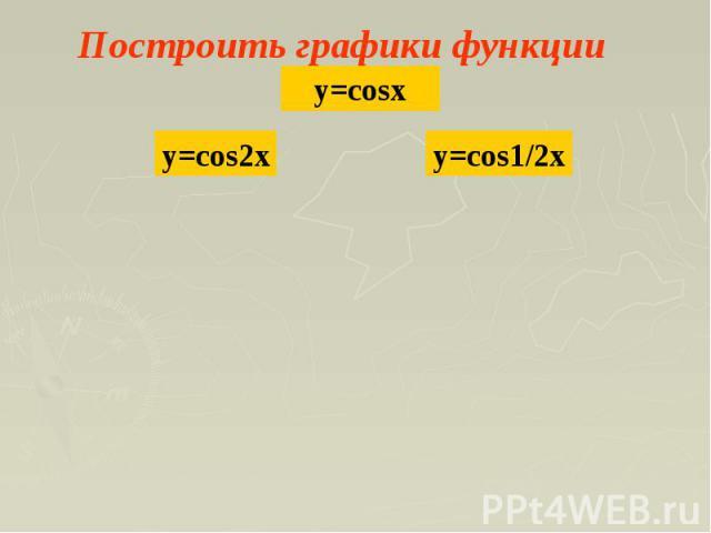 Построить графики функции