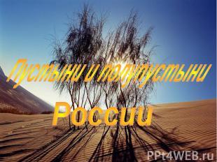 Пустыни и полупустыни России