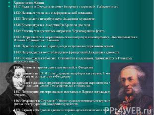 Хронология Жизни1817 Родился в Феодосии в семье базарного старосты К. Гайвазовск