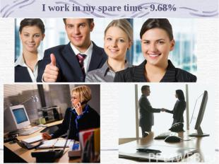 I work in my spare time - 9.68%