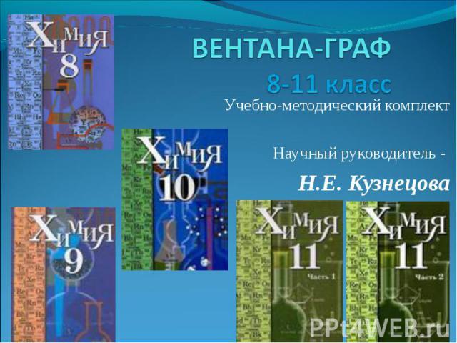 ВЕНТАНА-ГРАФ8-11 класс Учебно-методический комплектНаучный руководитель - Н.Е. Кузнецова