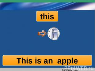 this This is an apple