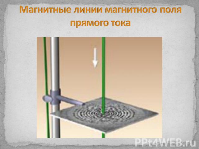 Магнитные линии магнитного поля прямого тока