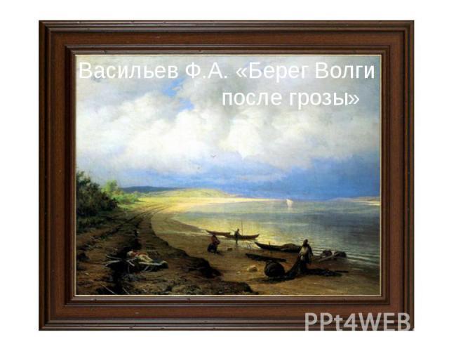 Васильев Ф.А. «Берег Волги после грозы»