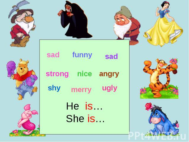 He is…She is…