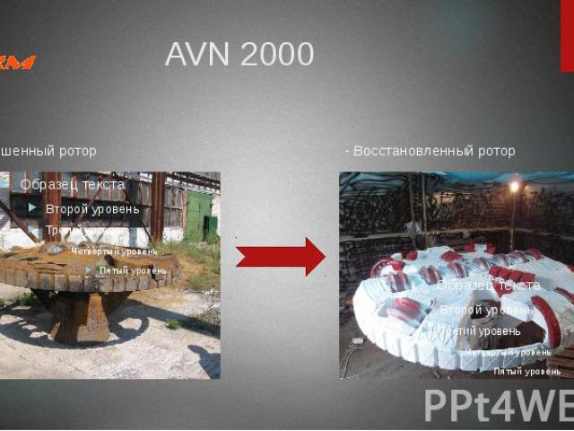 AVN 2000 Изношенный ротор