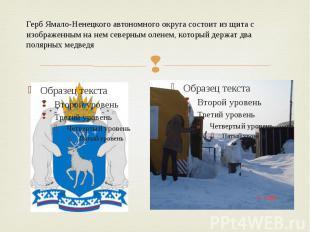 Герб Ямало-Ненецкого автономного округа состоит из щита с изображенным на нем се