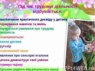 Накопичення практичного досвіду у дитини Накопичення практичного досвіду у дитин