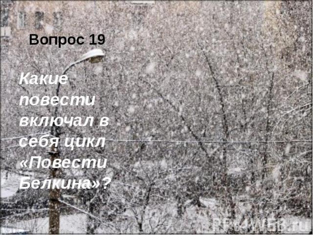 Вопрос 19