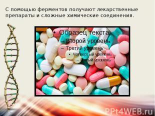 С помощью ферментов получают лекарственные препараты и сложные химические соедин