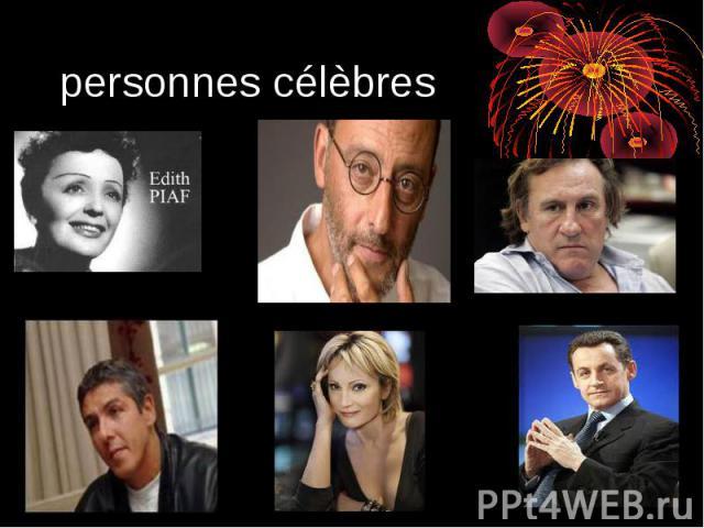 personnes célèbres