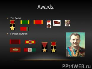 Awards:The Soviet:Foreign countries: