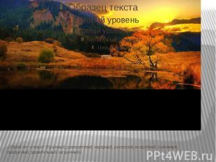 – Какой лес осенью? (Красивый, разноцветный, нарядный, расписной, волшебный, ска