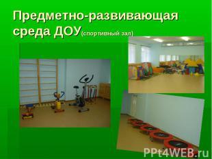 Предметно-развивающая среда ДОУ(спортивный зал)