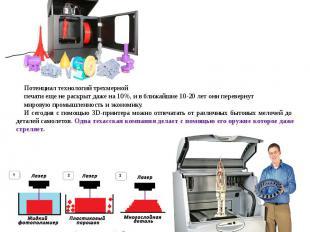 Аддитивные технологии (3D принтеры).