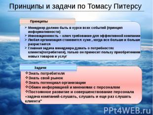 Принципы и задачи по Томасу Питерсу