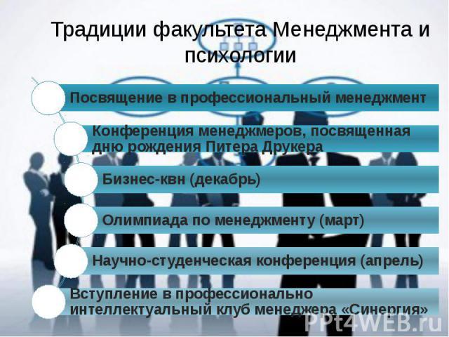 Традиции факультета Менеджмента и психологии