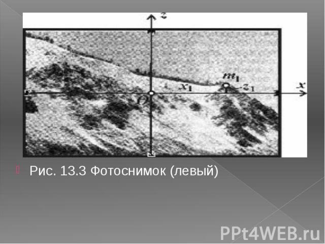Рис. 13.3 Фотоснимок (левый)