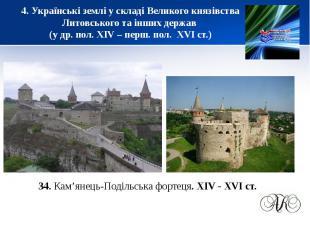 4. Українські землі у складі Великого князівства Литовського та інших держав (у