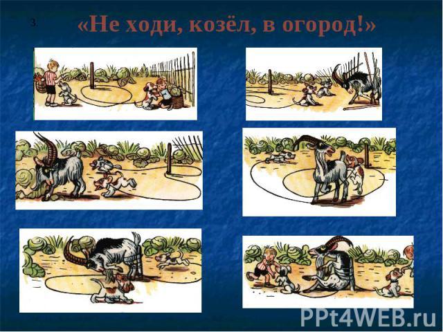 «Не ходи, козёл, в огород!»