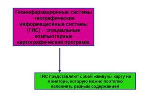 Геоинфармационные системы -географические информационные системы (ГИС) - специал