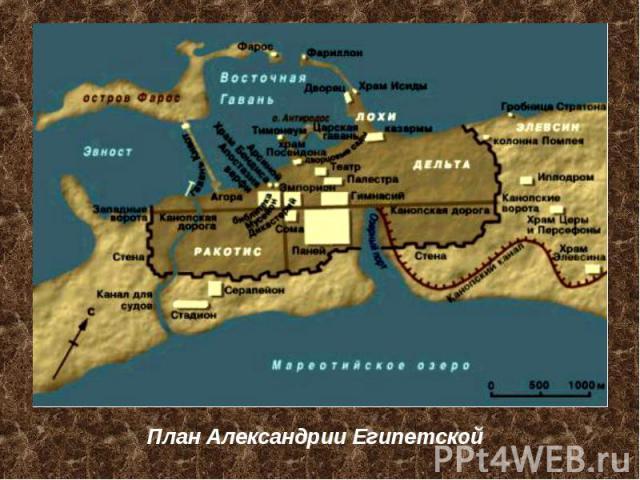 План Александрии Египетской