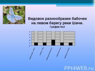 Видовое разнообразие бабочекна левом берегу реки Шачи.График №2
