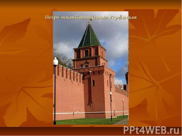 Петровская башня (также Угрешская