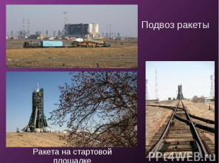 Подвоз ракетыРакета на стартовой площадке