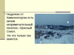 Недалеко от Каменногорска есть ничем непримечательный посёлок—Красный Сокол. Но