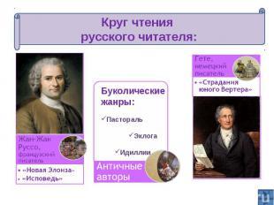 Круг чтения русского читателя: Жан-Жак Руссо, французский писательБуколические ж