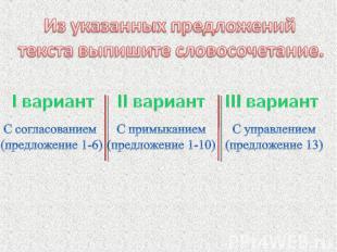 Из указанных предложений текста выпишите словосочетание.