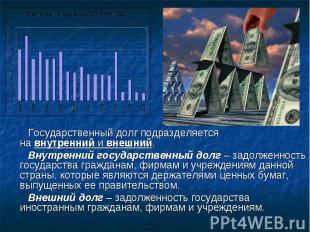 Государственный долг подразделяется навнутреннийивнешний. Внутренний государс