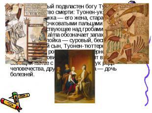 . Мир подземный подвластен богу Туони или Мана; Семейство смерти: Туонен-укко —