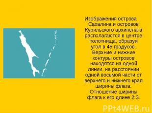 Изображения острова Сахалина и островов Курильского архипелага располагаются в ц