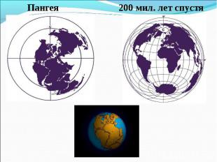 Пангея 200 мил. лет спустя