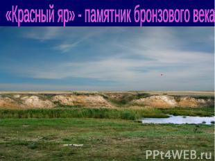 «Красный яр» - памятник бронзового века