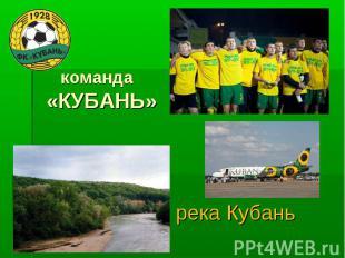 команда«КУБАНЬ» река Кубань