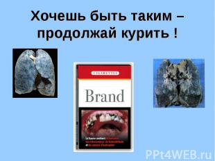 Хочешь быть таким – продолжай курить !