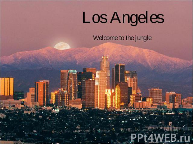Los Angeles Welcome to the jungle