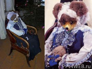 Бабушка Мышь сидит в главном зале в кресле перед камином и бесконечно что-то вяж