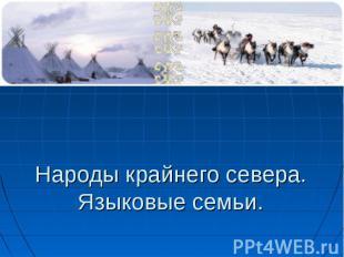 Народы крайнего севера.Языковые семьи.