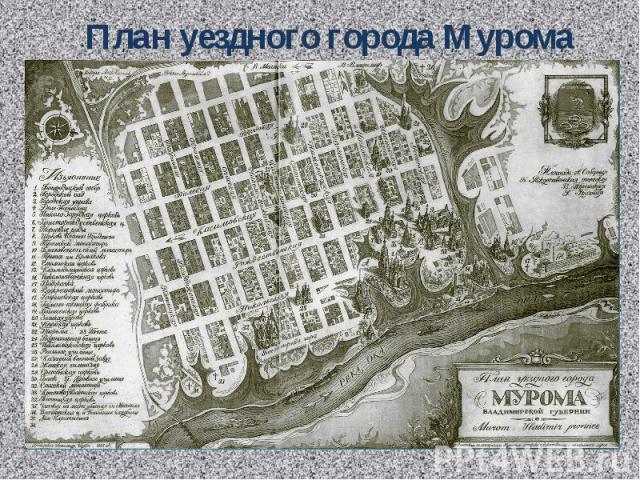 План уездного города Мурома