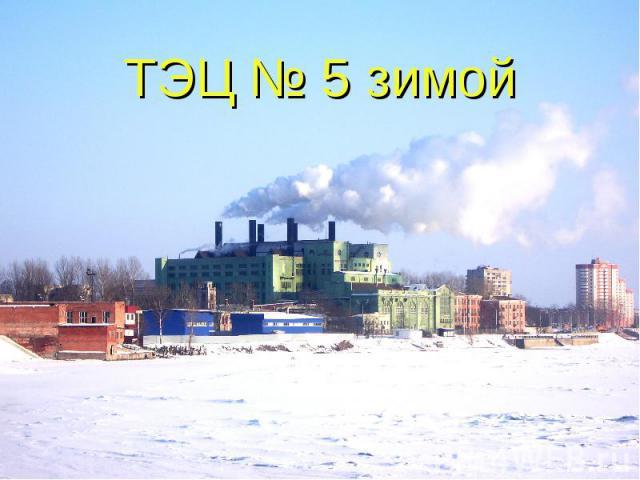 ТЭЦ № 5 зимой