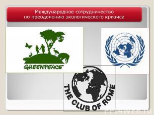 Международное сотрудничество по преодолению экологического кризиса