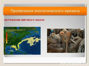 Презентация У роковой черты Глобальный экологический кризис и  слайда 7 Проявления экологического кризиса ЗАГРЯЗНЕНИЕ МИРОВОГО ОКЕАНА