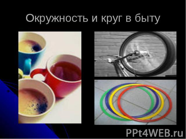 Окружность и круг в быту