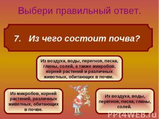 7. Из чего состоит почва?