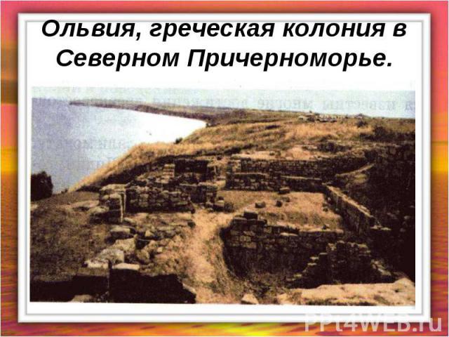 Ольвия, греческая колония в Северном Причерноморье.